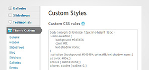 Custom CSS styles
